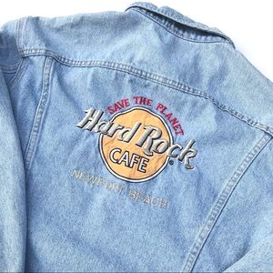 Vintage Lee Hard Rock Cafe Newport Denim Jacket